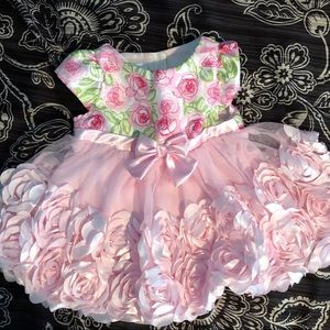 Other - Baby girl pink flowered dress